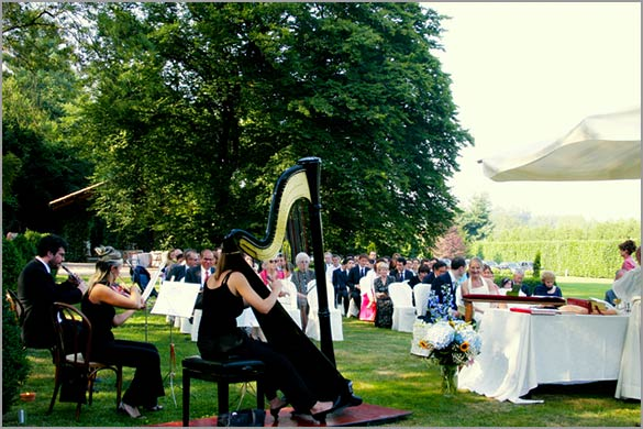 Villa Giannone outdoor religious wedding ceremony in Italy Italian Country