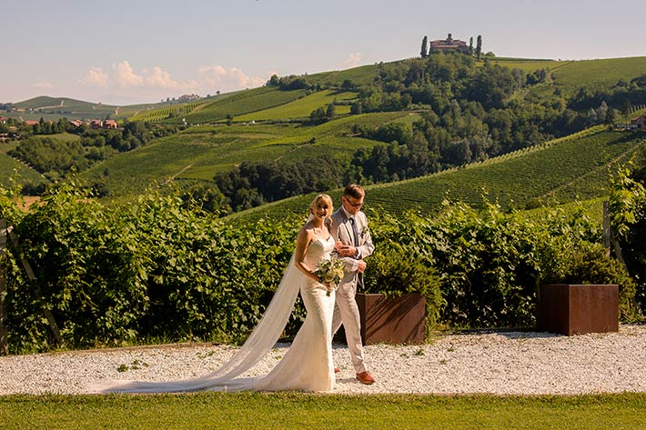 ceremony overlooking Barolo vineyards